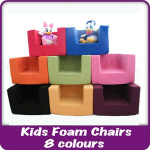 Image is loading Kids-Children-039-s-Comfy-Chair-Toddlers-Foam-  sc 1 st  eBay & Kids Childrenu0027s Comfy Chair Toddlers Foam Armchair Boys Girls ...
