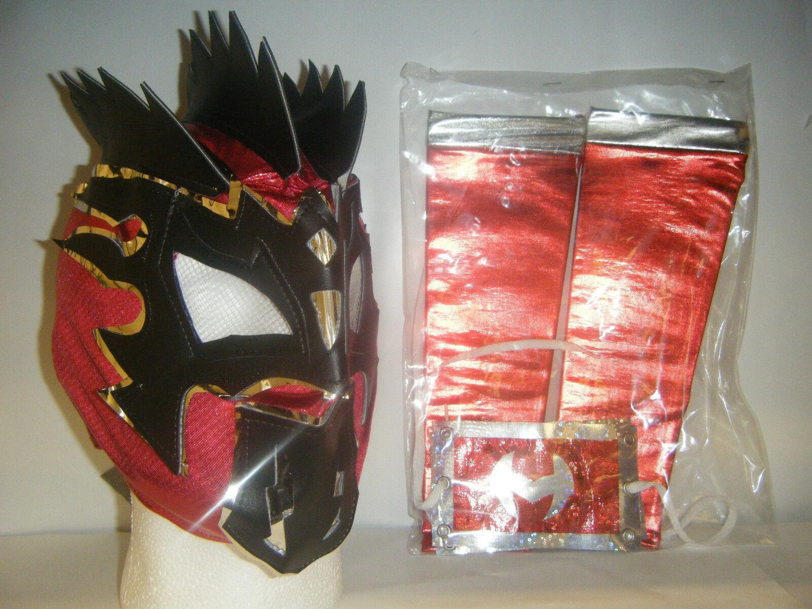 Kalisto & Arm Ärmel Kinder Wrestling Maske Kostüm Verkleidung Lucha Drachen