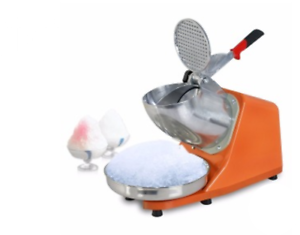 JIQI-Electric-Ice-Shaver-Machine-Snow-Cone-Maker-Crusher-Shaving-220V-ORANGE