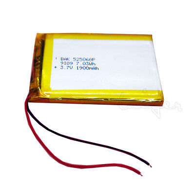 3.7v 1900mAh Li-polymer Rechargeable Battery 525068 for MID PAD Laptop Powerbank