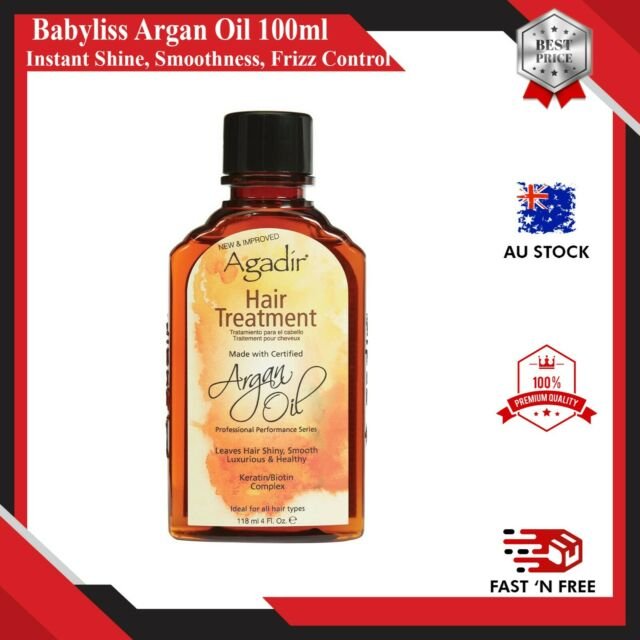 Babyliss Pro Argan Oil 100ml Instant Shine, Smoothness, Frizz Control