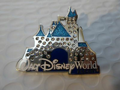 Disney Parks Jeweled Castle Trading Pin