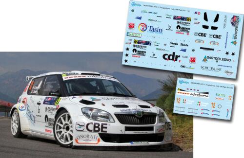 SKODA FABIA S2000 C047 Decal 1:43 Renato Travaglia Rally 1000 Miglia 2011