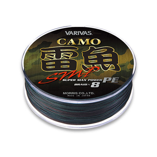 VARIVAS RAIGYO Snake Head SUPER MAX POWER PE SMP. Camouflage. 8 Braid Line