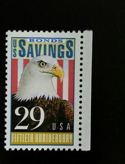 1991 29c U.S. Savings Bonds, 50th Anniversary Scott 253