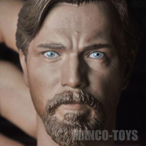 1//6 ObiWan Kenobi Head Sculpt Jedi Knight Star Wars fit 12/'/' Male Figure Body