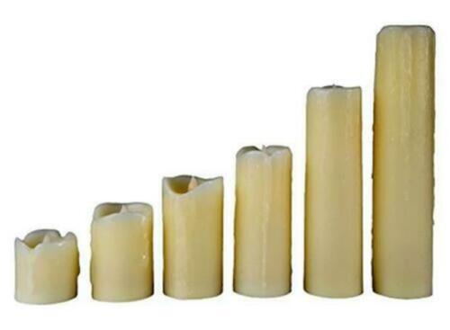 Everlasting Flameless Pillar LED Candle 6pcs Smoke Free Cand