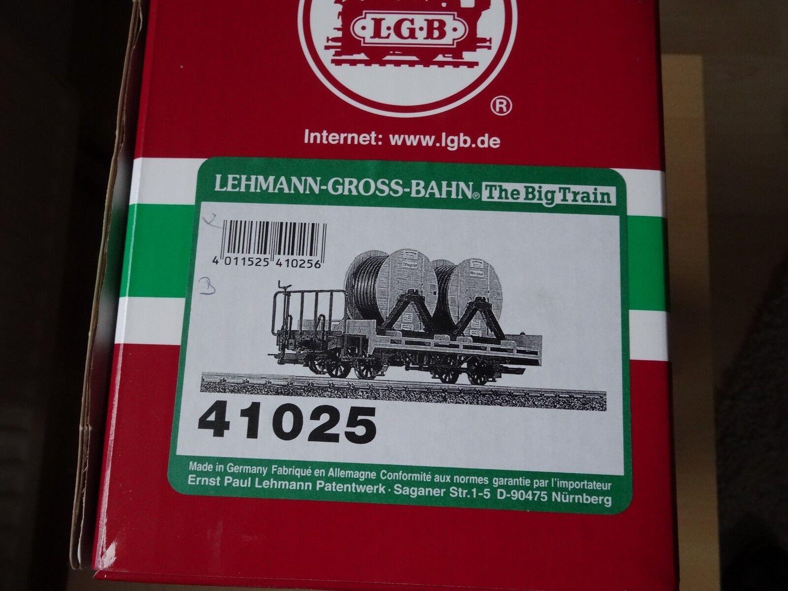 LGB Art 41025 baja bordo carro con cable artículos nuevos roles embalaje original