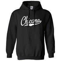 Chicano Script & Tail Hoodie - Hooded La Raza Latino Sweatshirt - All Colors
