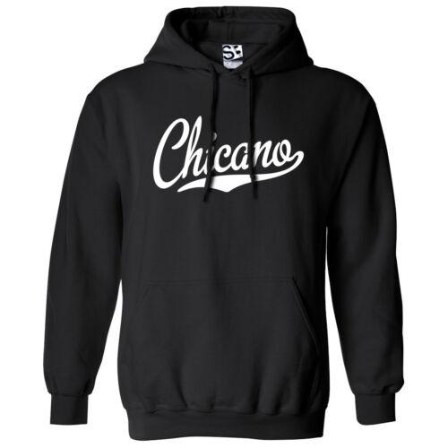 Hooded La Raza Latino Sweatshirt All Colors Chicano Script /& Tail HOODIE