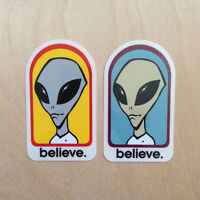 Alien Workshop skateboards vinyl sticker believe UFO decal bumper Street League