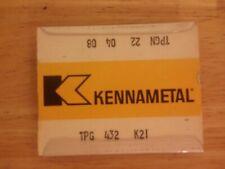 5 Pcs Tpg 432 Kennametal K21 Carbide Inserts