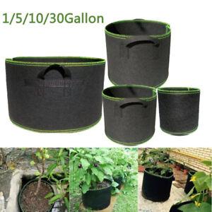 1 30 Gallon Tree Pots Plant Grow Bags Growing Bags Fabric Pot Garden Tools Ebay