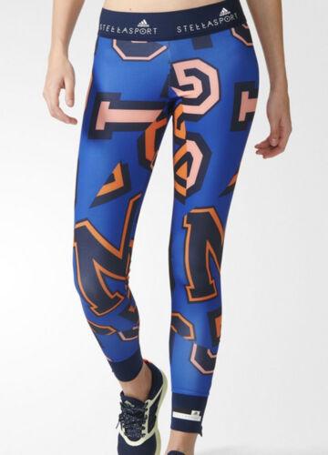 Adidas Stellasport Yoga M12 pied Femmes Dance Bleu Leggings Gym Imprimés Course à Nouveau cS5Aq3RjL4