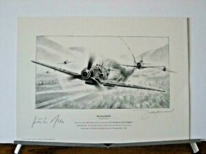 The-Final-Battle-Me109-Bf109-P-47-Gunther-Rall-John-Shaw-Ace-Signed-Aviation-Art