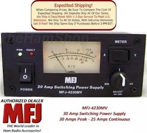 MFJ-4230MV-30-AMP-Switching-Power-Supply-With-Meter-4-16-Volts-Adjustable-NEW