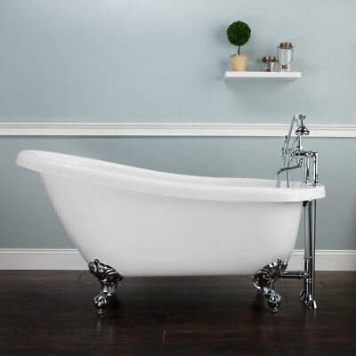Randolph Morris 54 In Acrylic Clawfoot Tub /& Shower Complete Package