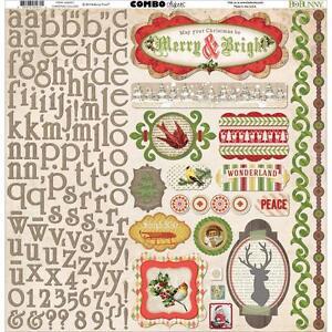 Bo-Bunny-Christmas-Collage-12-x12-Element-Alphabet-Combo-Stickers-16603471