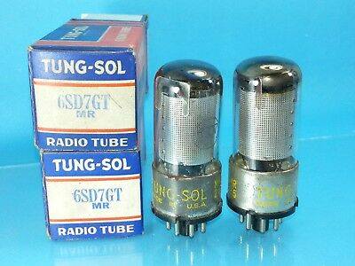 TUNG SOL 6SD7 VACUUM TUBE MATCHED PAIR ABSOLUTELY NEW NOS NIB T1 WH