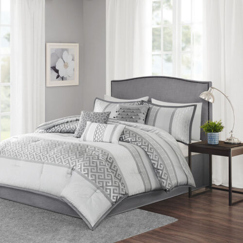 King Queen BED IN A BAG 7 PIECE COMFORTER SET 2 COLORS Cal King