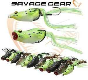 Savage-Gear-3D-Frog-Fishing-Hollow-Lure-Walk-Pop-Predator-Tackle-New-2019-Range