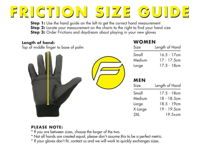 Pair PICK YOUR COLOR WOMENS Friction 3 Ultimate Frisbee Gloves ALL SIZES
