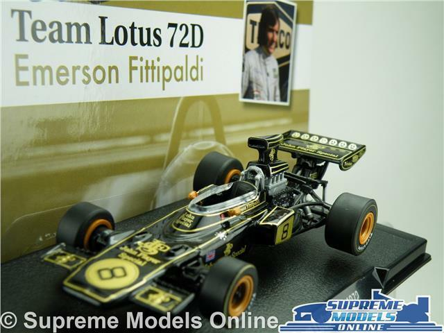 TEAM LOTUS 72D FORMULA 1 RACING MODEL CAR EMERSON FITTIPALDI 1 43 SCALE ONE K8Q