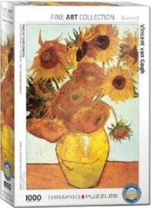 EG60003688 Eurographics Puzzle 1000 Pc - Twelve Sunflowers / Vincent Van Gogh