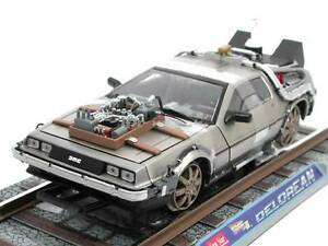 voiture delorean 3 rail road retour vers le futur iii en m tal au 1 18 ebay. Black Bedroom Furniture Sets. Home Design Ideas