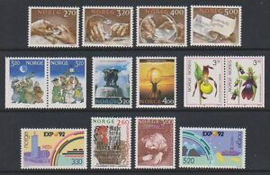 Norway-1989-92-14-x-Issues-MNH