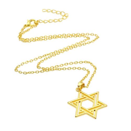 Davidstern Hexagramm Anhänger Kette Edelsthal Halskette Jüdisches Stern David