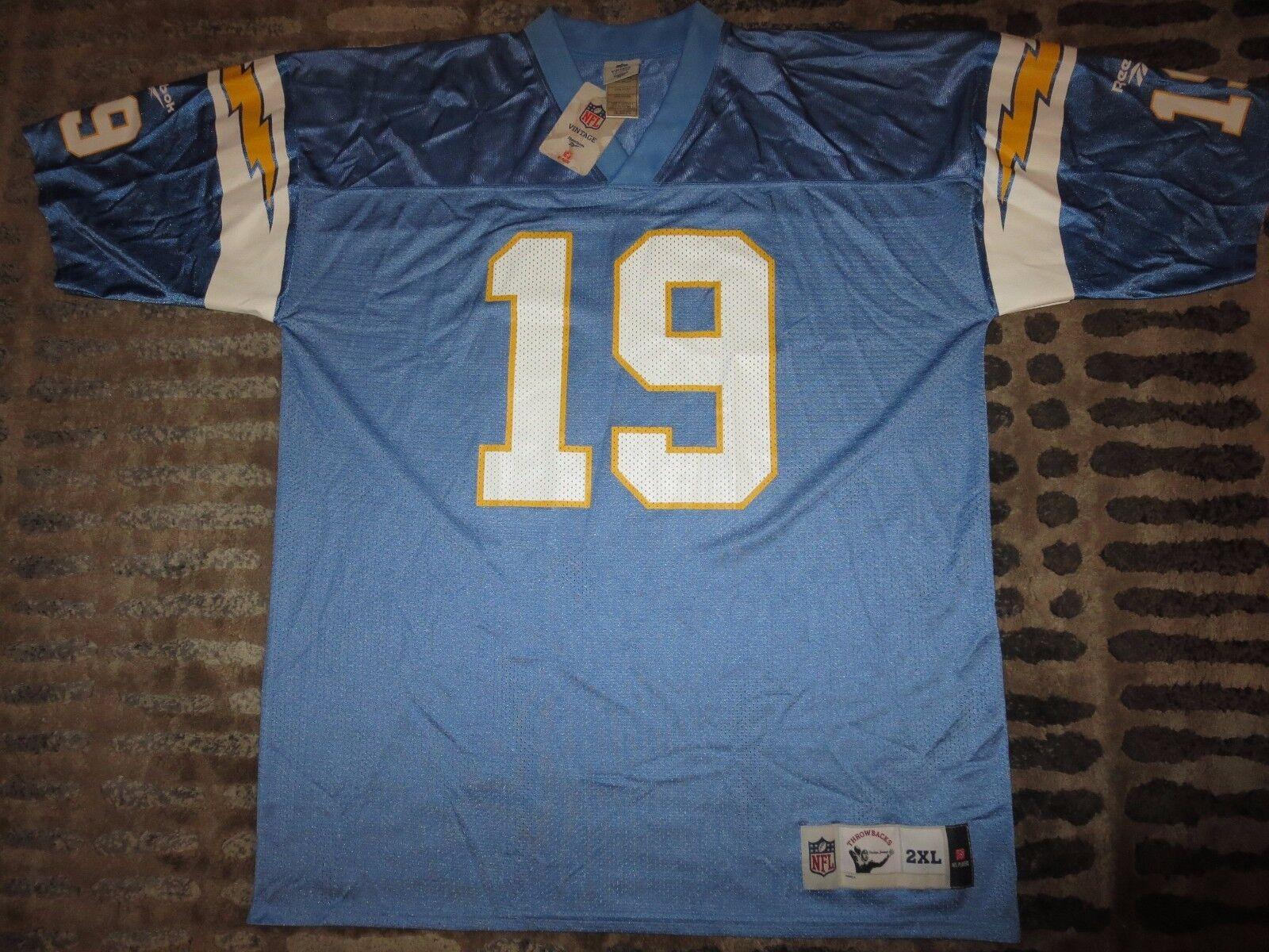 Lanza Alworth  19 San Diego Chargers Fútbol Reebok NFL Camiseta 2XL 2x Nuevo