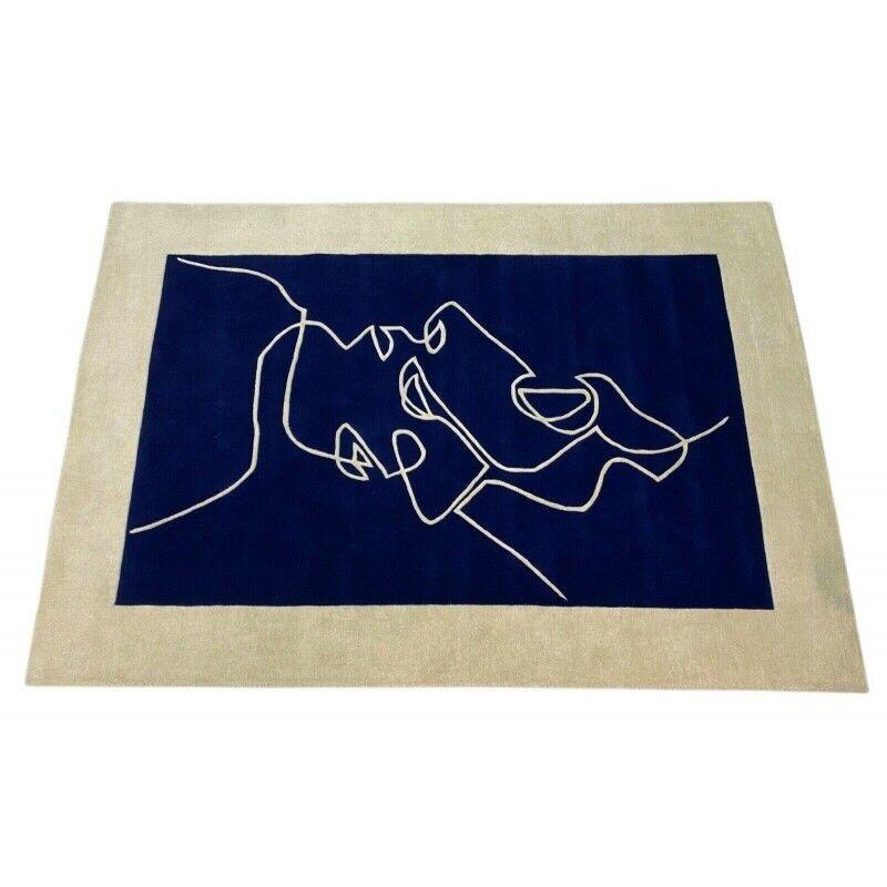 Gulvtæppe, ægte tæppe, Uldtæppe