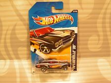 2012 HOTWHEELS ''HW RACING'' #172 = `70 CHEVELLE SS = BLACK RACING