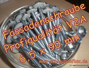 100-Schrauben-6-5-x-90-mm-V2A-DS-22mm-Sandwichplatten-Thermodach-Trapezbleche