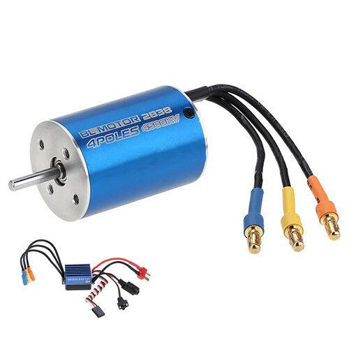2838 4500KV 4P Sensorless Brushless Motor+35A ESC for 1/14 1/16 1/18 RC Car
