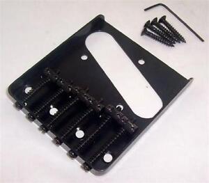 6 saddle ashtray bridge for fender telecaster black ebay. Black Bedroom Furniture Sets. Home Design Ideas