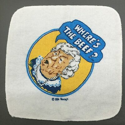 VTG 80s Wendys Wheres The Beef Fast Food Promotional ...