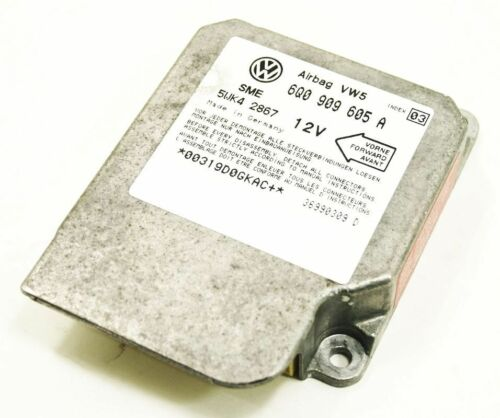 Airbag Air Bag Computer Module 2000 00 VW Beetle 6Q0 909 605 A