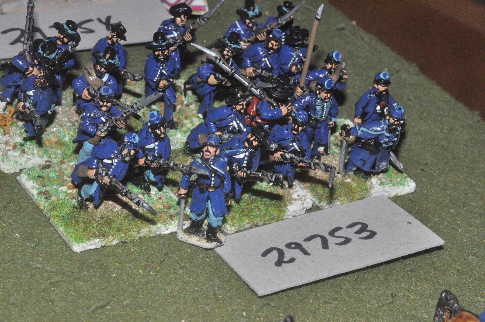 25mm ACW   union - regiment 24 figures - inf (29753)