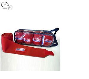 John Whitaker Training Bandages -  4 Fleece/ Elastic Exercise FREE DELIVERY