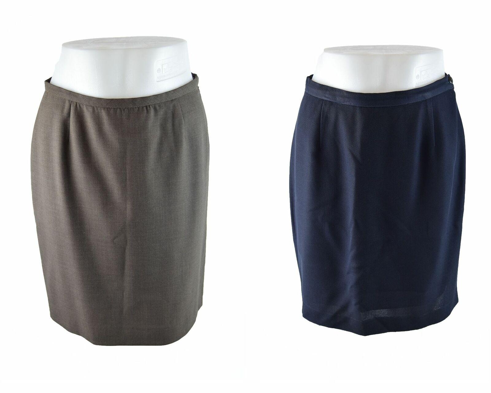 GIORGIO ARMANI Navy bluee And Brown Skirts Set, US 6