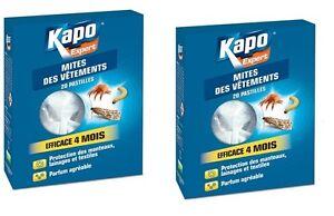 2-PASTILLE-ANTI-MITES-LARVES-KAPO-efficace-4-mois-PROTEGE-VETEMENT-LAINAGE