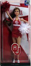 University Oklahoma Barbie Boomer Sooner Cheerleader OU Mattel Pink Label NIB