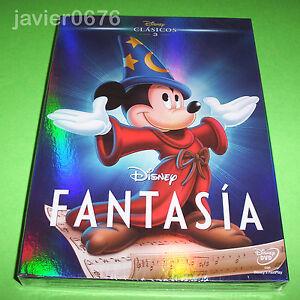FANTASIA-CLASICO-DISNEY-NUMERO-3-DVD-NUEVO-Y-PRECINTADO-SLIPCOVER