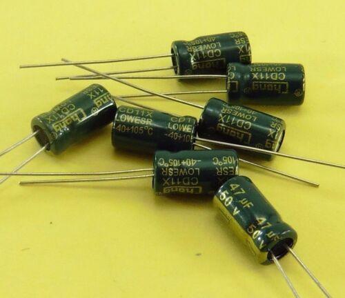 50V 47uF condensadores electrolíticos alta frecuencia baja ESR chongx Genuina