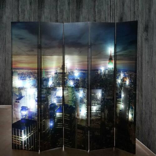 netzbetrieben 120//160//200x180cm Timer LED-Paravent Raumteiler New York