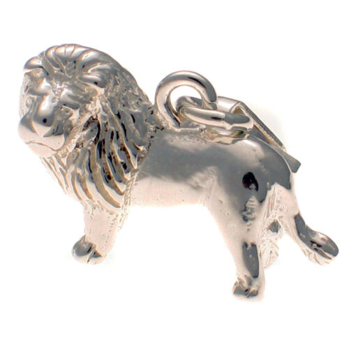 Sterling 925 British Silver Clip On Charm Lion King with Mane by Welded Bliss