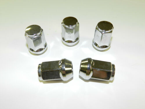 "20 CHROME Bulge style Wheel Lug Nuts Rim Acron 5 Pcs RV Trailer Camper 1//2/"""