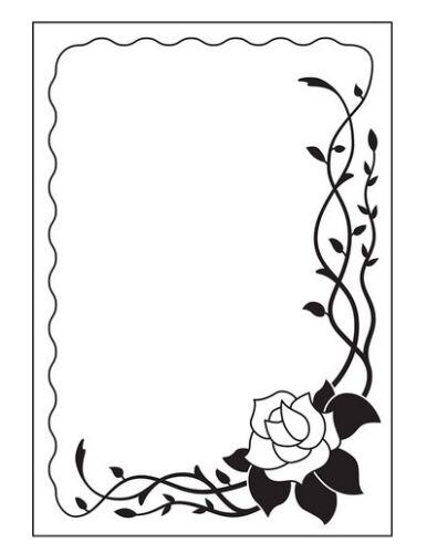 Nellie`s Choice Prägeschablone Emb Hintergrund Vintasia Rose frame 681253 Fold